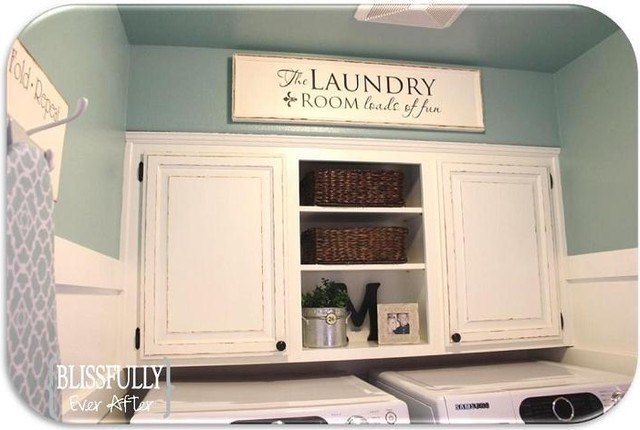traditional laundry room by Jennifer@ Blissfully Ever After