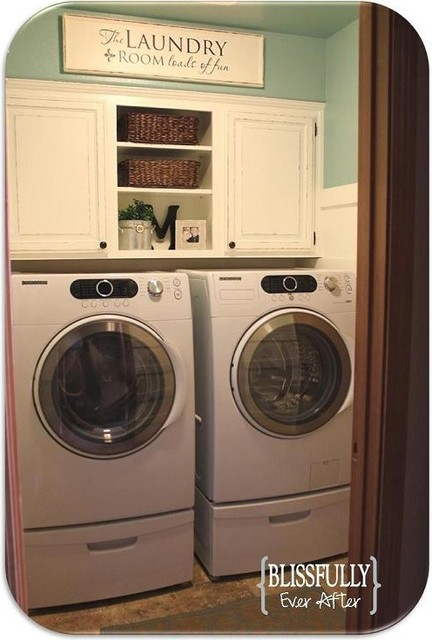 $100 Laundry Room Makeover traditional laundry room
