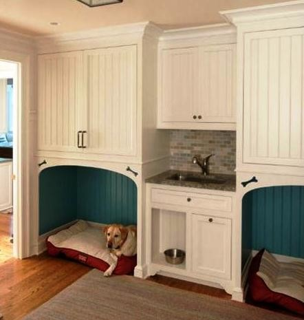 Transformation of a new england style home with 21st for Dog room furniture