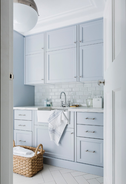 Wahroonga transitional-laundry-room