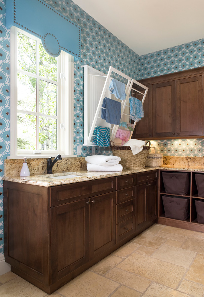 Inspiration for a timeless laundry room remodel in Denver