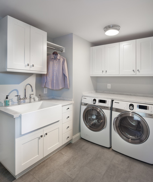 Trim Kitchen transitional-laundry-room