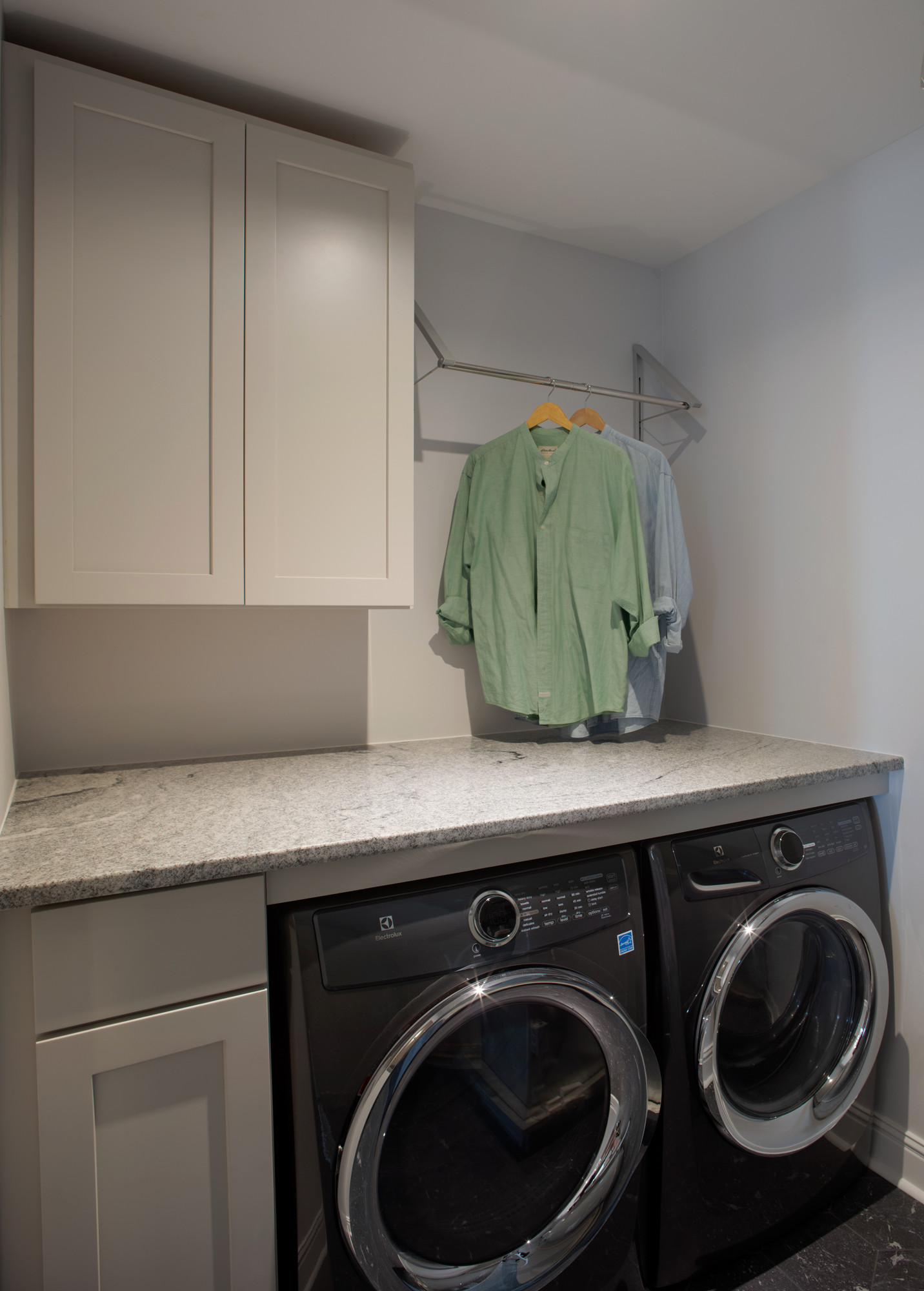 Updated laundry room with ample folding space