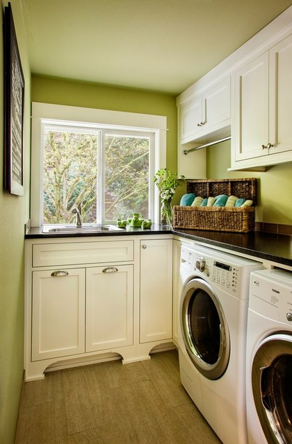 Updated Traditional traditional-laundry-room