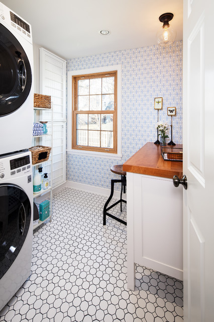 Updated Vintage Traditional Laundry Room Omaha By