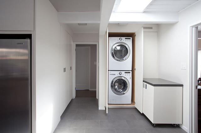 Utility space laundry open photo 2 of 2 midcentury laundry room san francisco by - Utility rooms in small spaces gallery ...