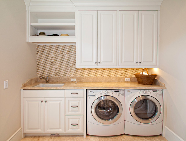 traditional laundry room by Busby Cabinets
