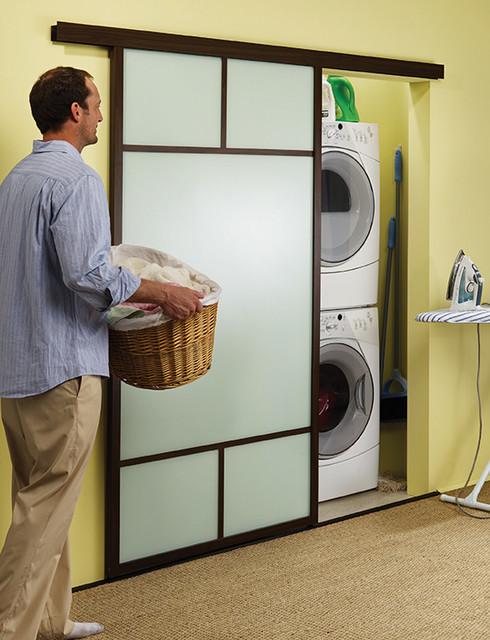 Wall slides for Laundry room sliding doors