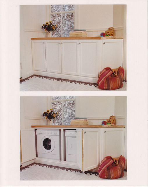 Washer & Dryer Cabinet traditional laundry room