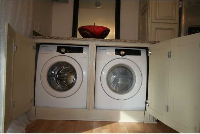 Washer Dryer Wet Bar contemporary laundry room