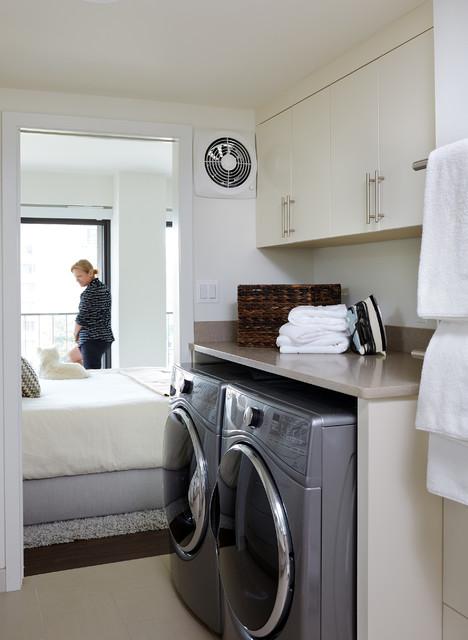 Washington Dc Condo Remodel Contemporary Laundry Room