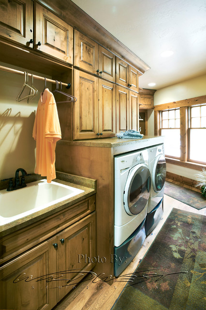 West Bend Big Cedar Lake Whole House Remodel Traditional Laundry Room Milwaukee By Mid