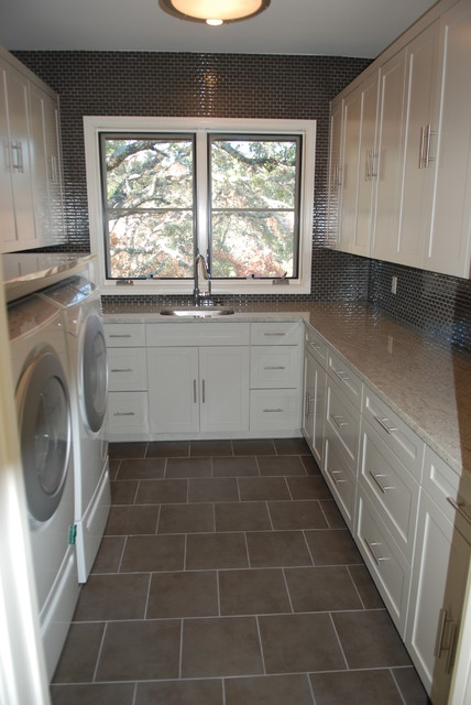 Westlake Residence contemporary laundry room