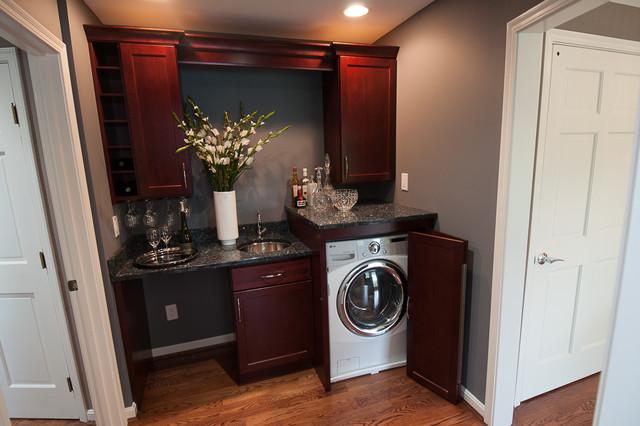 Wet Bar With Laundry Laundry Room Cincinnati By Devol Design Build Remodel Llc