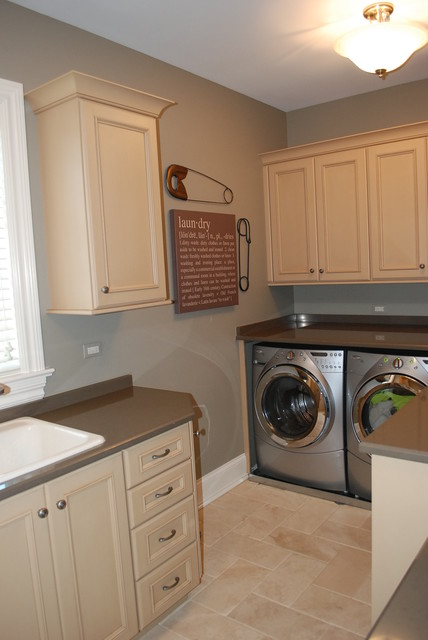 Wheaton Illinois home traditional-laundry-room