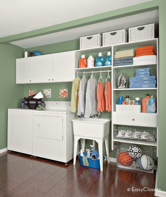 White Laundry Room Hallway - grand rapids - by EasyClosets
