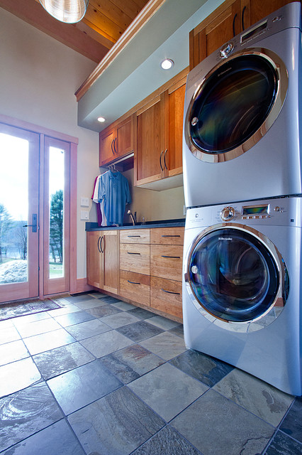White Mountains Area Post & Beam Home contemporary-laundry-room