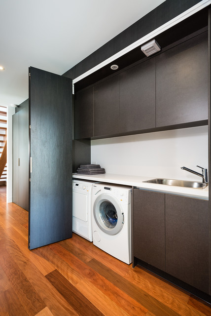 Williamstown Townhouse Project Modern Laundry Room