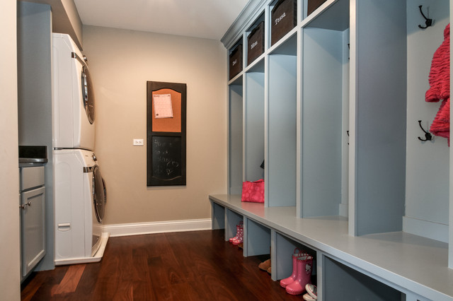 Winding Creek Addition Traditional Laundry Room