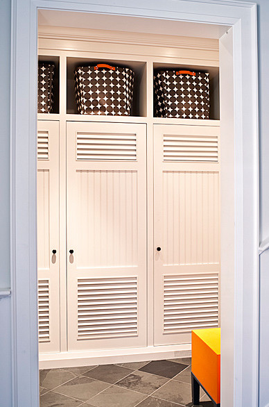garage gym fold away idea - Mudrooms Pantries and Pocket Doors Evolution of Style