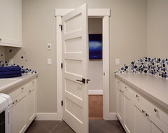 Woodinville Retreat transitional-laundry-room