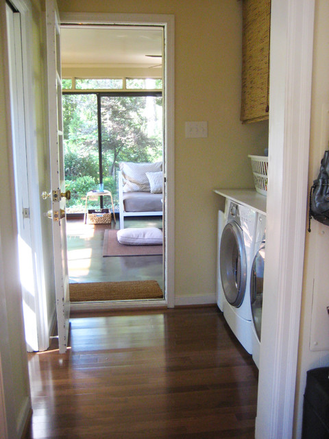 Young house love- Sunroom traditional laundry room