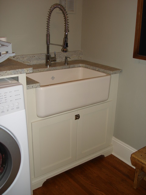 Utility Room Sink : Zup Residence - Traditional - Laundry Room - charlotte - by Hardwood ...