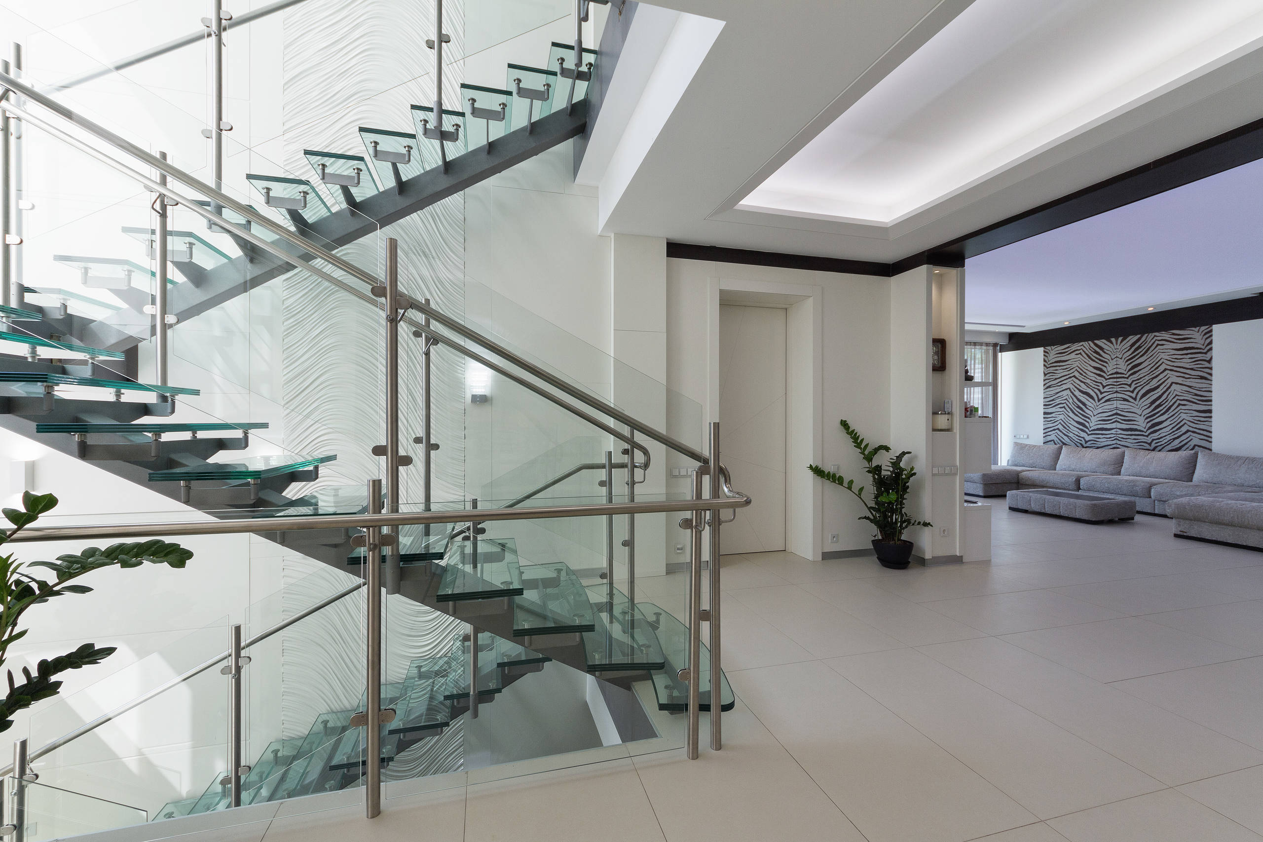 Top Cucina In Vetro Temperato 75 beautiful industrial glass staircase pictures & ideas | houzz
