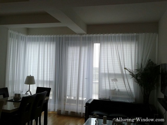 sheer curtains 224 w 14th st nyc residence modern
