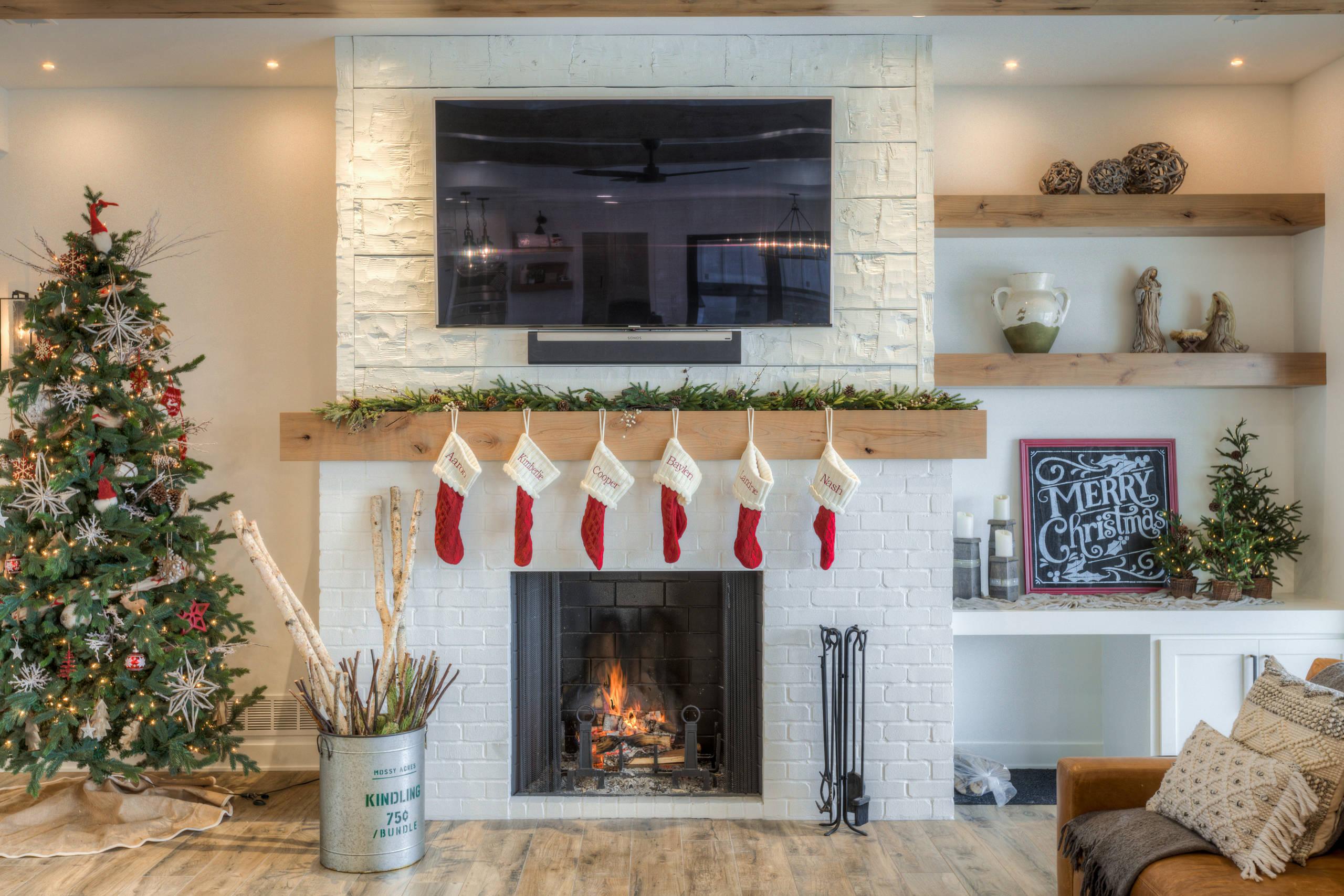 houzz christmas decor living room