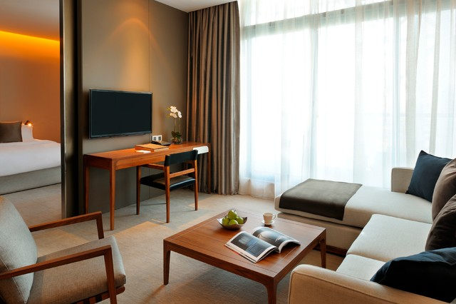1 bd hotel apartment in Dubai 5 stars hotel contemporary-living-room