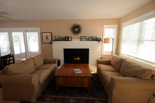 100 Year Old Cabin Remodel Traditional Living Room Other By Edwards Laplant Construction