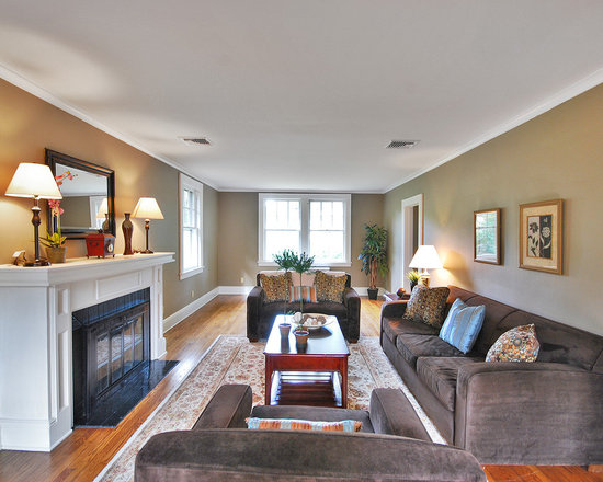 Gray Couch Tan Walls Home Design Ideas Pictures Remodel