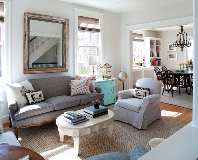 11th St Shabby Chic Style Living Room