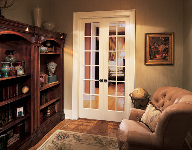12 Lite French Doors Traditional Living Room Chicago