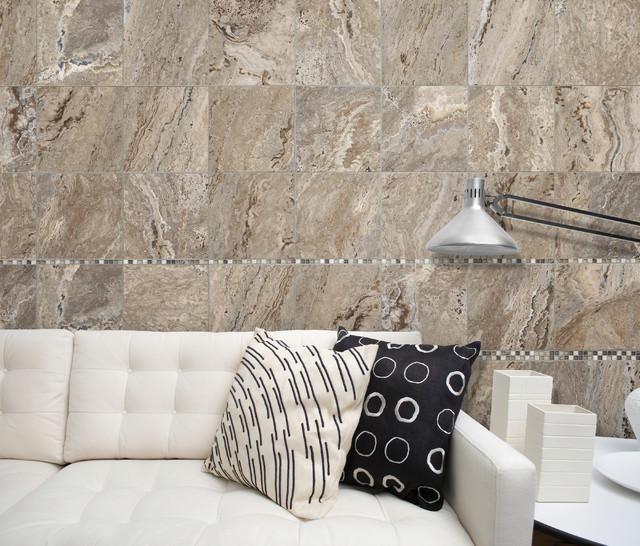 12x12 antico walnut tile contemporary living room for 12x12 living room ideas