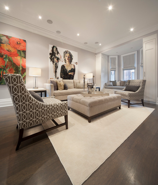 13 Foxley St Transitional Living Room Toronto By
