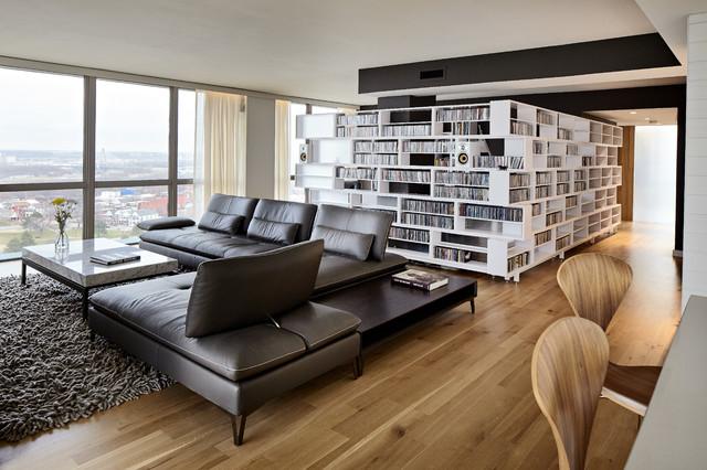Downtown Kansas City Condo Scandinavian Living Room