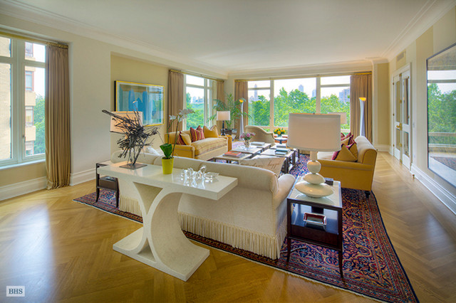 15 Central Park West eclectic-living-room