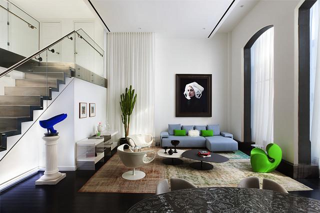 15 Union Square West: Living Room contemporary-living-room