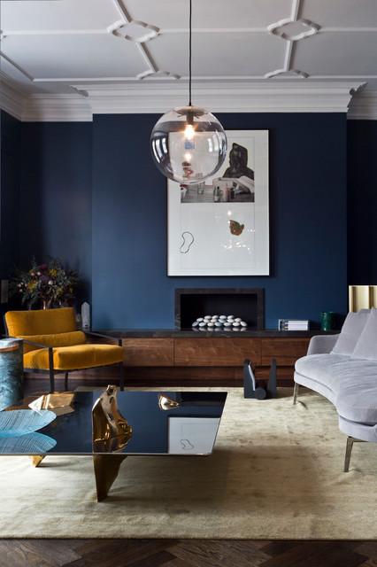 Navy Blue Living Room Ideas Houzz Uk
