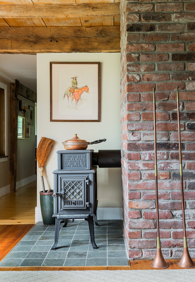 Immagine di un soggiorno rustico