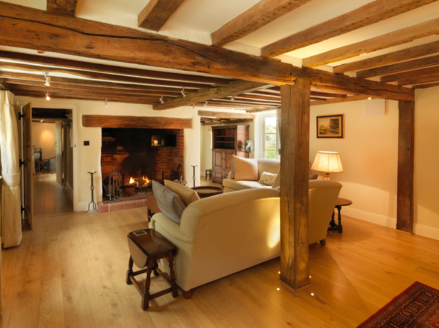 17th Century Thatched Cottage Farmhouse Living Room Hampshire
