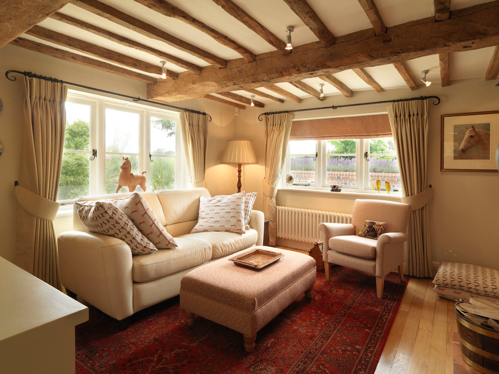 17th Century Thatched Cottage Country Living Room Hampshire