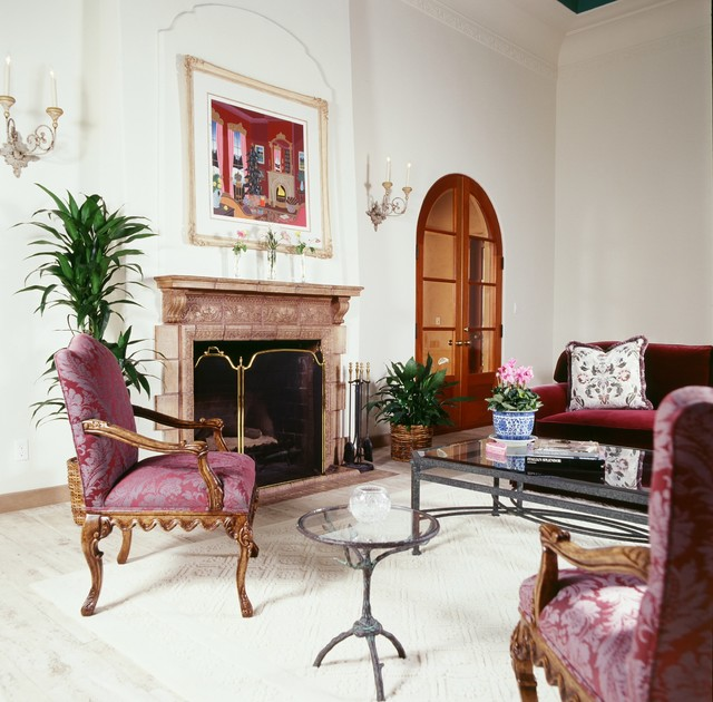 1920s Italian Villa Lemon Heights Traditional Living Room