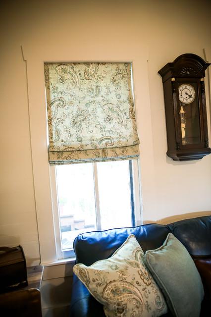 1920s Farmhouse Transitional Living Room Houston