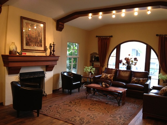1928 Spanish Style Traditional Living Room Los