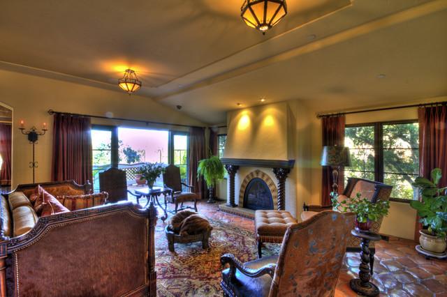 1929 Spanish Revival mediterranean-living-room