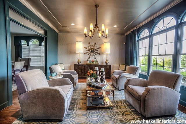1930 39 s inspired lounge transitional living room for 1930s living room ideas
