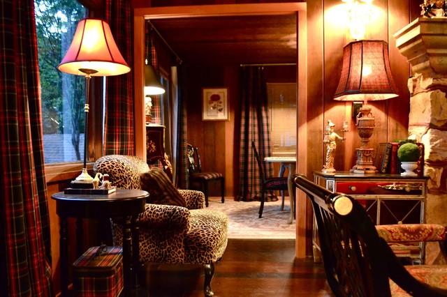 1930 39 s log cabin for Living room 1930s